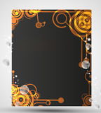 Card with circle pattern Royalty Free Stock Photography