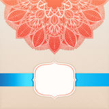 Card with a circular ornament - 2 Royalty Free Stock Image