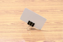 Card and clip design Stock Photography