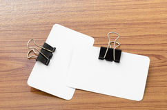 Card and clip design Stock Images