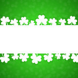 Card with a clover for a holiday. St. Patrick's Day. Stock Image