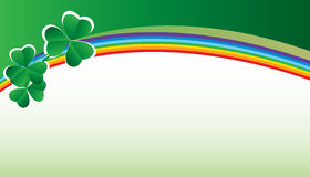 Card with clover and rainbow Royalty Free Stock Photography
