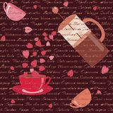 Card with coffee and hearts Royalty Free Stock Images