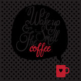 Card with coffee. Royalty Free Stock Photos