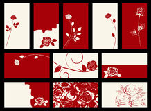 Card -  collection. With roses Royalty Free Stock Images