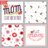 Card collection for mother's day Royalty Free Stock Image