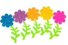Card with colored flower. S as applique Royalty Free Stock Photography