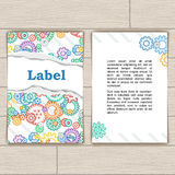 Card with Colorful Background Gears Royalty Free Stock Images