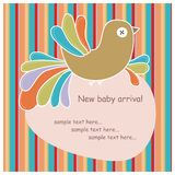 Card with colorful bird Stock Photo