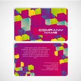 Card of colorful cubes. vector illustration Royalty Free Stock Photo