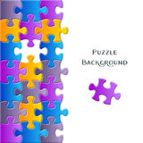 Card with colorful puzzle pieces Stock Images