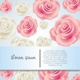Card with colorful roses Stock Images