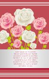 Card with colorful roses Royalty Free Stock Photography