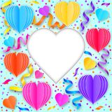 Colorful greeting card Stock Image
