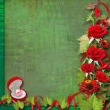 Card for congratulation or invitation Stock Photos