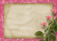 Card for congratulation or invitation with bunch Royalty Free Stock Images