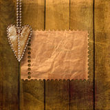 Card for congratulation with retro hearts Stock Image