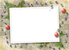 Card for congratulation with sphere and beads Royalty Free Stock Image
