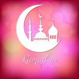 Card for congratulations with beginning of fasting month of Ramadan Royalty Free Stock Photography