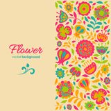 Card for congratulations floral background Royalty Free Stock Image