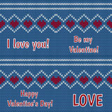 Card - congratulations on Valentine's Day on a black background Stock Photos