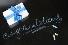 Card with congratulations Royalty Free Stock Photo