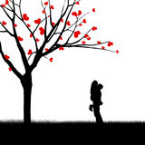 Card couple design silhouette Stock Photo