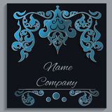 Card, cover, with interior motion ornamental Royalty Free Stock Photography