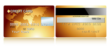 Card credit. This illustration may be usefull as designer work Royalty Free Stock Photo