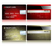Card credit. This illustration may be use as designer work Royalty Free Stock Image