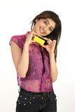 card credit girl young στοκ εικόνες