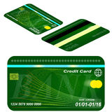 Card credit template. Royalty Free Stock Images