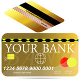Card credit template. Royalty Free Stock Photography