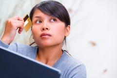 card credit thinking using στοκ φωτογραφίες με δικαίωμα ελεύθερης χρήσης