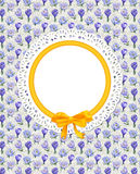 Card with crocus flowers on canvas Stock Photos
