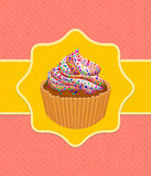 Card with cup cake Stock Image
