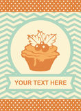 Card with cup cake. Stock Image