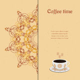 Card with cup of coffee Royalty Free Stock Image