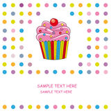 Card cupcake Royalty Free Stock Photography