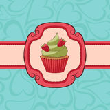 Card_cupcake Royalty Free Stock Images