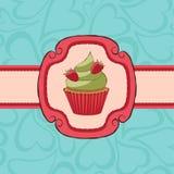 Card_cupcake Immagini Stock Libere da Diritti
