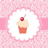 Card with cupcake.  illustration Stock Images