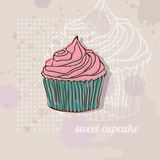 Card with cupcake Stock Images