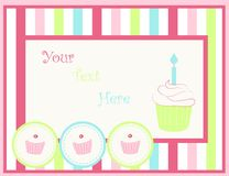 Card with cupcakes. Vector illustration of a card with cupcakes Royalty Free Stock Photography
