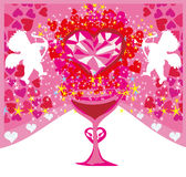 Card with cupids Stock Image