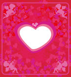 Card with cupids. Happy valentines day - card with cupids Stock Photo
