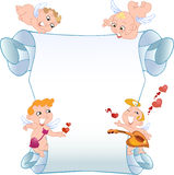Card with cupids Royalty Free Stock Images