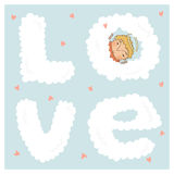 Card for with cute cupids Royalty Free Stock Image