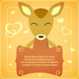 Card with cute deer Royalty Free Stock Images