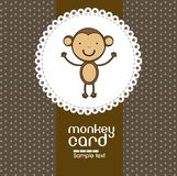 Card with cute monkey Stock Photography